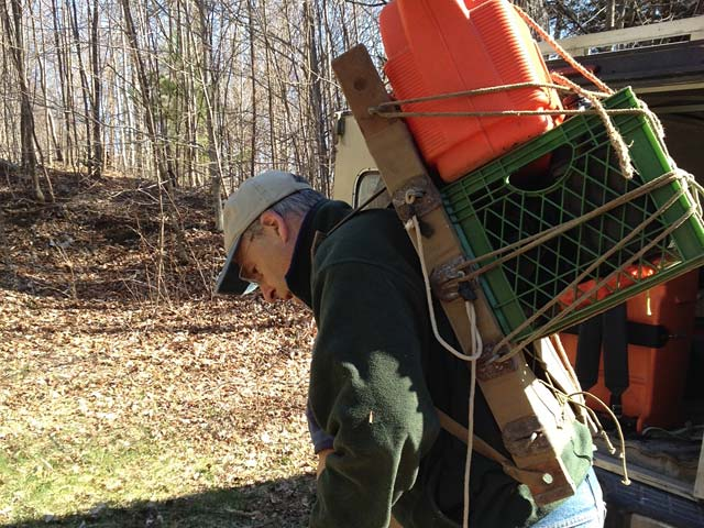 Corinth VT Town Forest trail cleanup