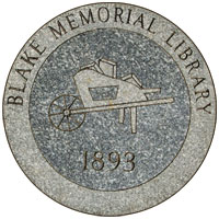 Blake Memorial Library granite marker